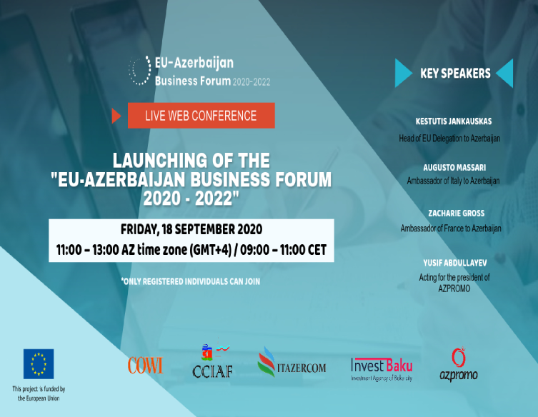 "Web conference devoted to ""EU-Azerbaijan Business Forum 2020-2022"""