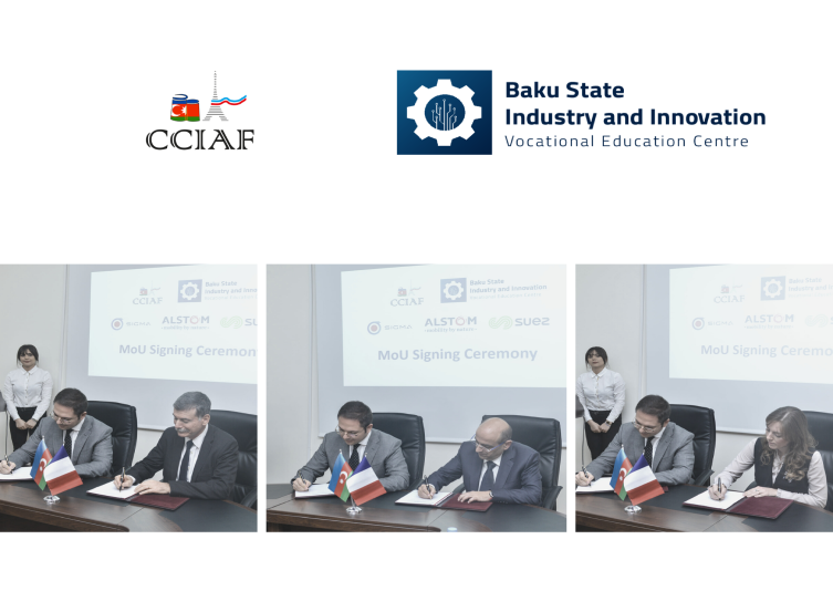 CCIAF cooperation with the Baku State Industry and Innovation Vocational Education Centre (BSIIVEC)