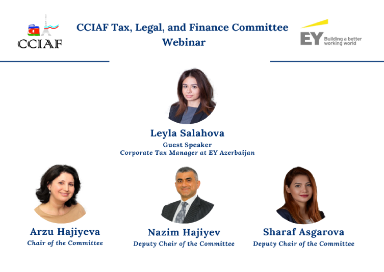 CCIAF Tax, Legal, and Finance Committee held a webinar