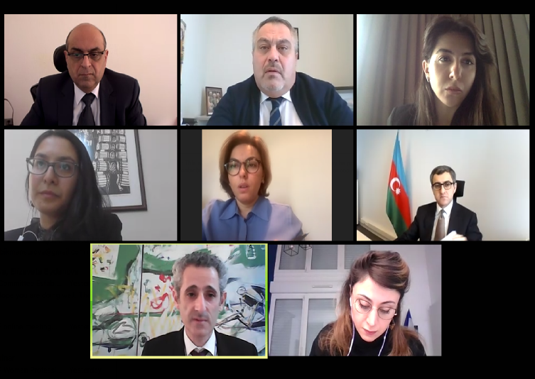 Online meeting with the French Ambassador Zacharie Gross